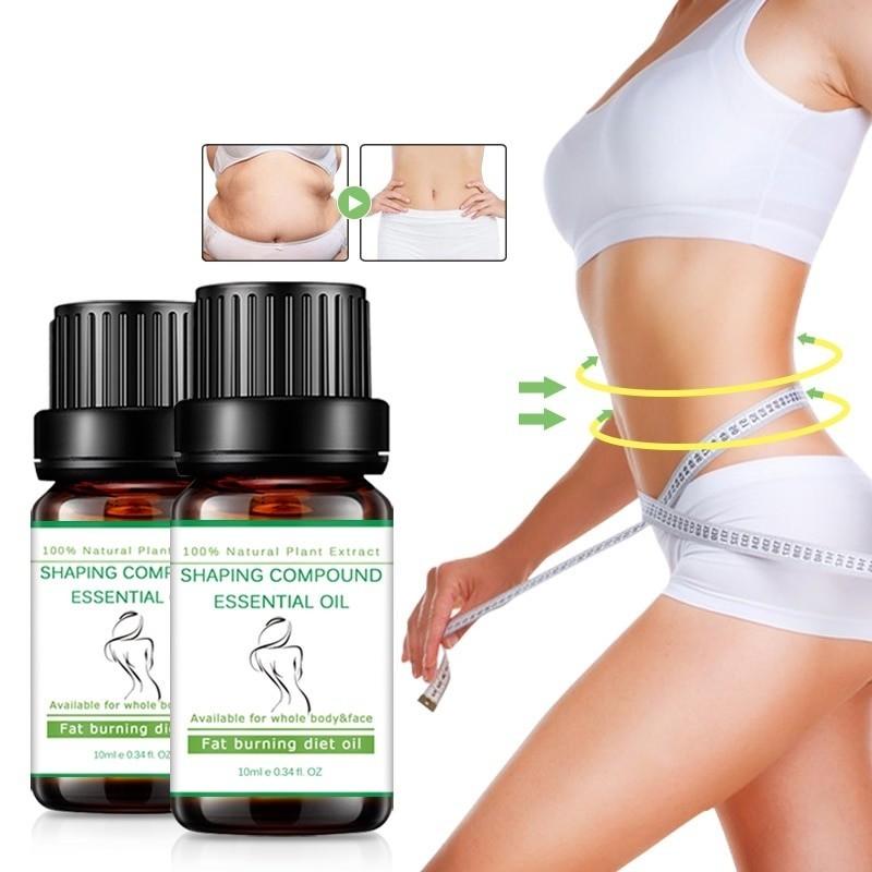 Naturalny esencjonalny olejek do masażu - odchudzający - spalający tkankę tłuszczową - 2 szt