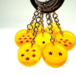 Ball with star - keychain