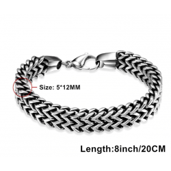 Tuswans 316L Stainless Steel Chain Bracelets