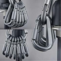 Karabinek ze stopu aluminium - szybki hak typu D 6szt