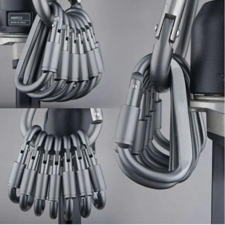 Aluminium Karabiner - D Typ Schnell Haken 6 Stück