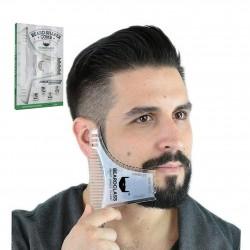 Bartformung - Bartformschablone mit Kamm
