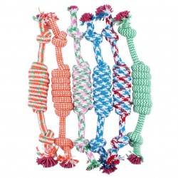 Cotton bone & rope - dogs toy 27cm