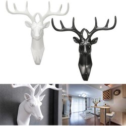 2017 New Animal Deer Stags Testa Hook Parete Hanger Rack Holder Resina Decorativa Domestica Montato