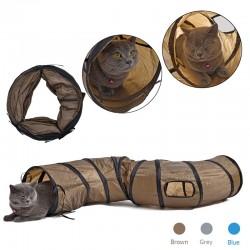 S - Tunnel pliable en forme pour chats et animaux domestiques