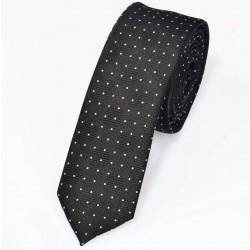 Klasyczny poliestrowy wąski krawat