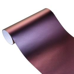 Okładka winylowa 3D z włókna węglowego - Naklejka 10 * 100cm