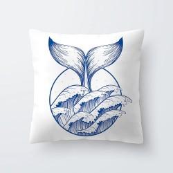 Decoratieve Kussens Zee Paard Schildpad Kussen Blauw Wit Kussenhoes voor Stoel Auto Sofa Nautische D
