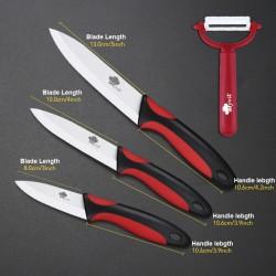 Couteau en cramique couteaux de cuisine 3 4 5 6 pouces avec plucheur Chef cuisine fruits lgumes u