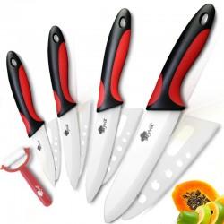 Cuchillo de cermica de cuchillos de cocina 3 4 5 6 pulgadas con pelador Chef de cocina vegetal de l