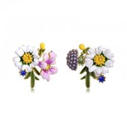 Boucles d'oreilles petit chrysanthème