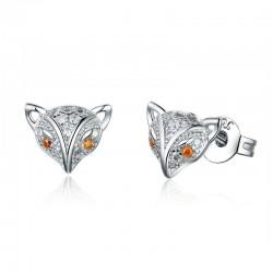Boucles d'oreilles petit renard en cristal