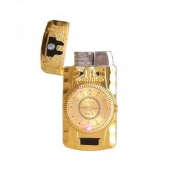 Butanowa zapalniczka - zegar kwarcowy - latarka