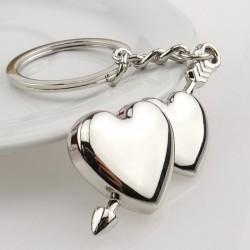 Podwójne serce & strzała - brelok do kluczy