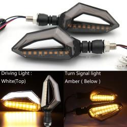 12 LED - indicatori di direzione per moto universali per Harley Cruiser Honda Kawasaki BMW Yamaha 2 pezzi
