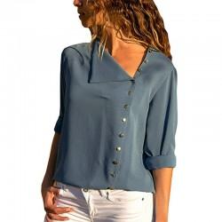 Elegancka szyfonowa bluzka z długim rękawem