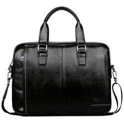 Elegant big leather shoulder bag