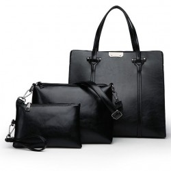 Eleganckie skórzane torebki - 3 sztuki komplet