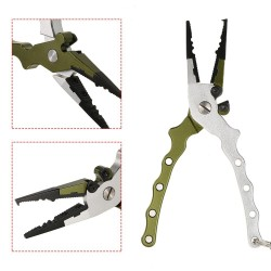 Fishing Plier With Bag Multi-functional Light Lure Accessories Remover Tool Kit