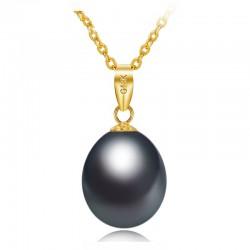 Luksusowy złoty naszyjnik z perłą 45cm