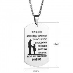To My Son & To My Daughter - stainless steel necklace