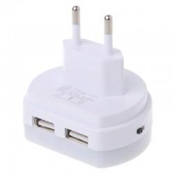 Podwójna ładowarka USB z LED i czujnikiem światła