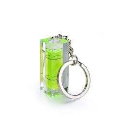 Mini akrylowa bańka poziomicy z brelokiem - przyrząd pomiarowy