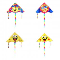 Triangle smiling face - kite 80 cm