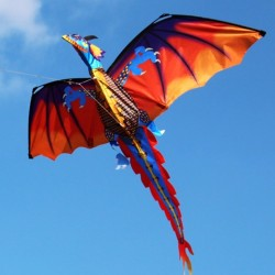 3D smok latawiec z ogonem i linią 100m