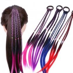 Fascia per capelli elastica con capelli artificiali intrecciati