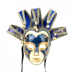 Vintage Jolly Joker - wenecka maska na twarz ma maskaradę & halloween