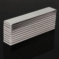N48 super fuerte imán de neodimio 50 * 10 * 2 mm - bloque 10 piezas