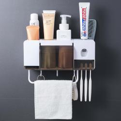 Pojemnik na szczoteczkę do zębów & wyciskacz do pasty do zębów - zestaw