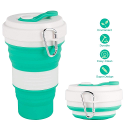 Collapsible silicone travel cup 550ml