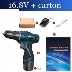 16.8V electric screwdriver - drill - set