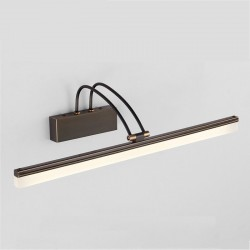 American style bathroom mirror light - copper - black - 8W Led wall light - lamp 39 cm