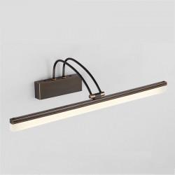 Lampa łazienkowa w stylu amerykańskim - miedź - czerń - kinkiet LED 8W - lampa 39 cm