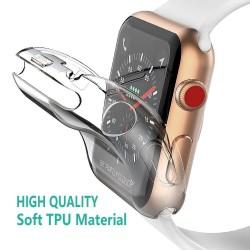 Volledige Case voor Apple Horloge 4 3 2 1 40 MM 44 MM Beschermende TPU HD Clear Ultra-Dunne cover Sc