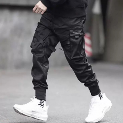 Multi-pocket hip-hop trousers