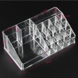 Acrylic transparent makeup organizer - storage box