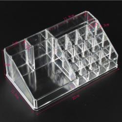 Akrylowy przezroczysty organizer do makijażu - pudełko do przechowywania