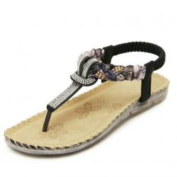 Cuculus femmes sandales plates avec Bling strass mode Flip Flop haute qualit bohme plage chaussure