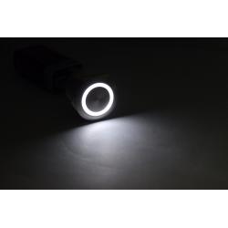 22mm metalowy wodoodporny przycisk ze stali nierdzewnej - przełącznik chwilowy - płaska okrągła lampa