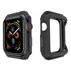 Silicone+PC Hard Armor Case for Apple Watch 4 40MM 44MM 3 2 1 38MM 42MM