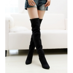 Sexy - long leather shoes - high-heeled boots
