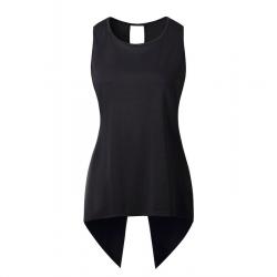 Nieregularna bluzka krzyżowa - elegancki top