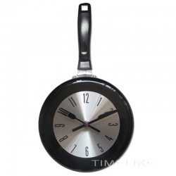 Metal wall clock in the shape of a frying pan 8-10-12 inches