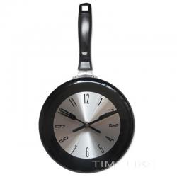 Reloj de pared de metal con forma de sartén de 8-10-12 pulgadas