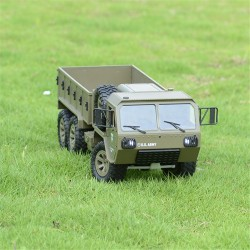 FY004A 1/16 2.4G 6WD RC car - proportional control - US army military truck with 2 batteries - RTR Model