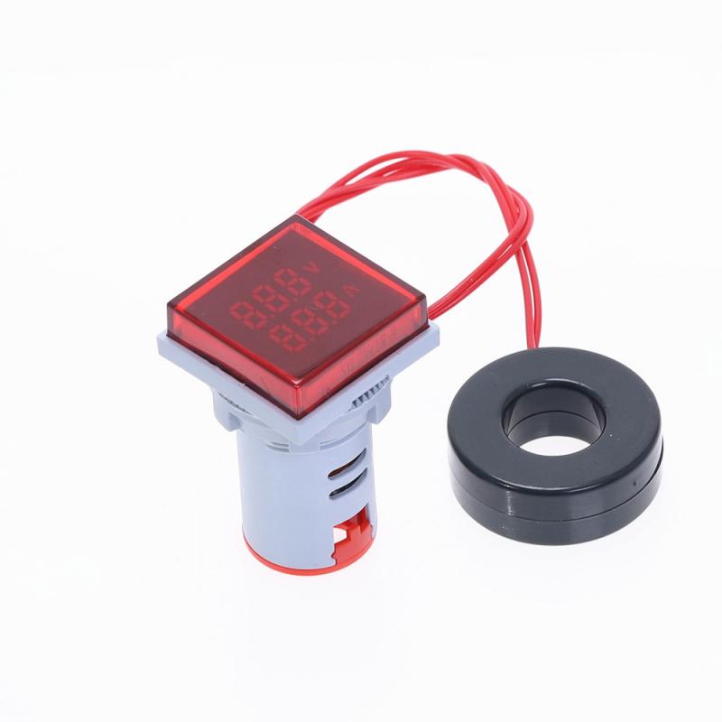 Nieuwe Vierkante LED Digitale Dual Display Voltmeter Amperemeter Voltage Gauge Current Meter Meting